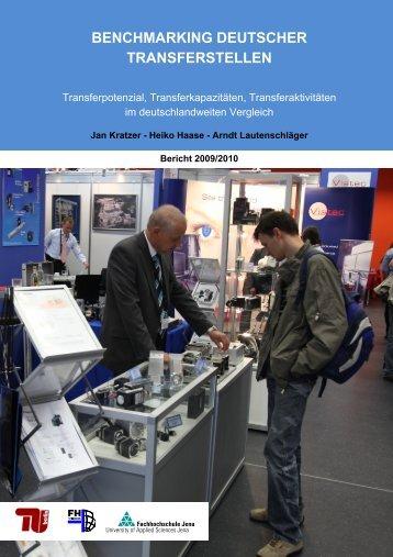 benchmarking deutscher transferstellen - Fachbereich ...