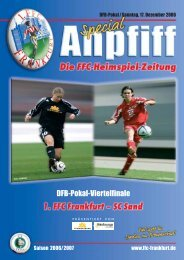DFB-Pokal / Sonntag, 17. Dezember 2006 - 1. FFC Frankfurt e.V.