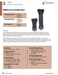 HPK04 In-Line Cartridge Filters - Donaldson Company, Inc.