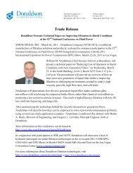Trade Release - Donaldson Company, Inc.
