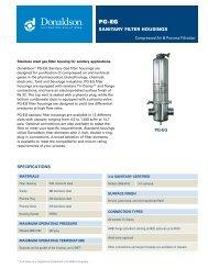 PG-EG process filter housings - Donaldson Company, Inc.