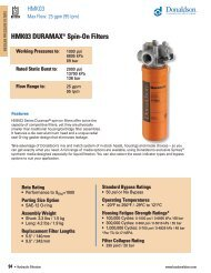 HMK03 DURAMAX® Spin-On Filters - Donaldson Company, Inc.