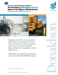 SEF Muffler System Sales Brochure - Donaldson Company, Inc.