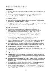 - 1 - Publikationen Prof. Dr. Johannes Berger ... - LSSOZ3