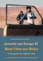 Jenseits von Europa XI Neue Filme aus Afrika - Institut français