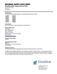 SECTION 1 - Product Identification - Donaldson Company, Inc.