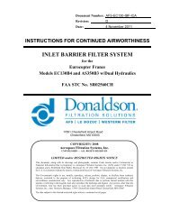 INLET BARRIER FILTER SYSTEM - Donaldson Company, Inc.