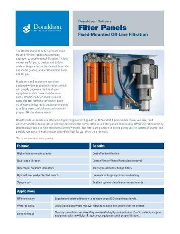 Filter Panels - Donaldson Company, Inc.