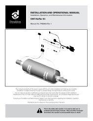 Installation and operational manual - Donaldson Company, Inc.