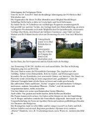 Bericht über die Hostatagung 2011 mit Bildern