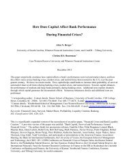 How Does Capital Affect Bank Performance During Financial Crises?