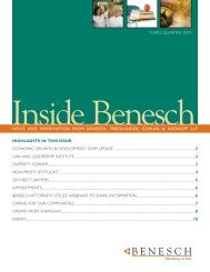 Construction Managers Association of America - Benesch