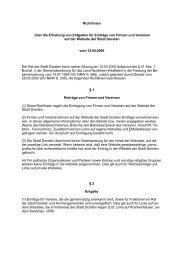 Richtlinien über die  Erhebung von Entgelten für ... - Stadt Dorsten