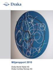 Miljørapport 2010 - Draka norsk kabel