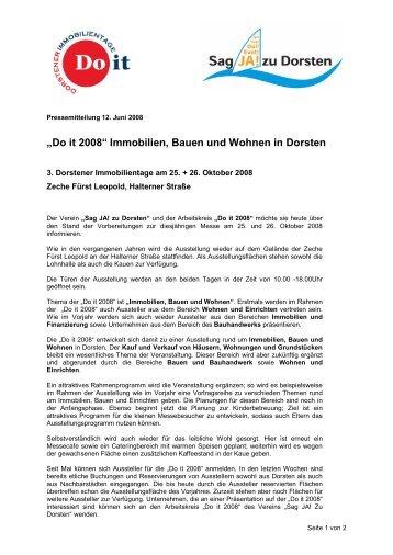 """""""Do it 2008"""" Immobilien, Bauen und Wohnen in Dorsten"""