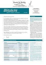 Infobrief Februar 2010 - Dostal & Rettig