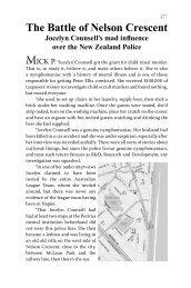 7. The Battle of Nelson Crescent - Greg Hallett and Spymaster