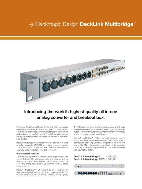 Blackmagic Design Decklink Multibridge
