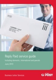 Reply Paid service guide (pdf 1497kb) - Australia Post