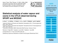 Statistical analysis of water vapour and ozone in the UT/LS ... - ACPD