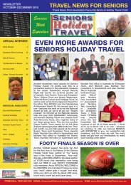 Service With Expertise - Seniors Holiday Travel