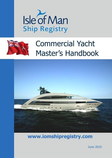 Commercial Yacht Master's Handbook - Isle of Man Government