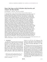 Repeat ridge jumps associated with plume‐ridge interaction, melt ...