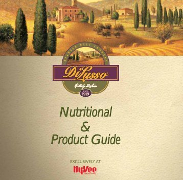 Nutritional & Product Guide - Hy-Vee