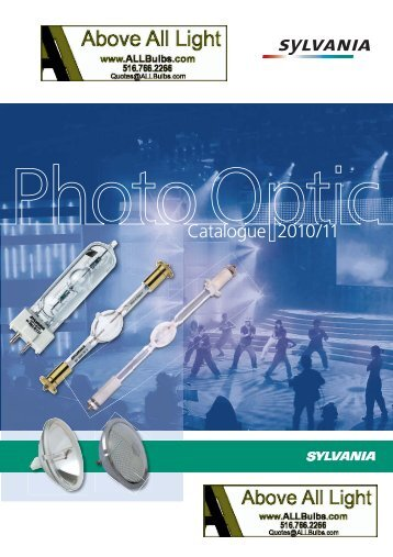 Photo Optic Catalogue 2010/11 - All Bulbs and Expendables