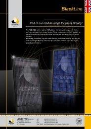 BlackLine - ALGATEC Solar AG
