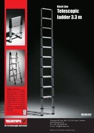 Telescopic ladder 3.3 m - MobiRack