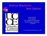 Walnut Blackline - University of California Cooperative Extension