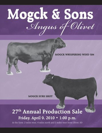 27th Annual Production Sale - Mogck & Sons Angus
