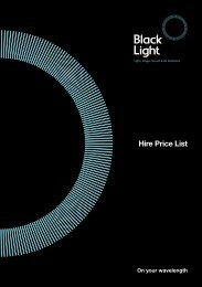 Hire Price List - Spotlites Theatre Company Limited