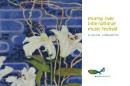 murray river international music festival - Arts Mildura