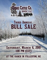 Click Here To View Sale Catalog - DUBAS CATTLE CO.