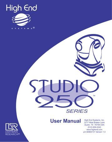 Studio 250 Series User Manual