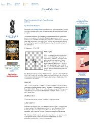 Complicated King & Pawn Endings, Part One - Chess Cafe