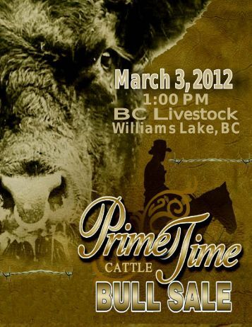 to download sale catalogue - Prime Time Cattle