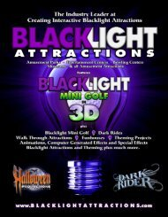 2013 Blacklight Attractions Brochure - Halloween Productions