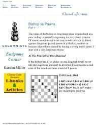 Bishop vs. Pawns - Chess Cafe