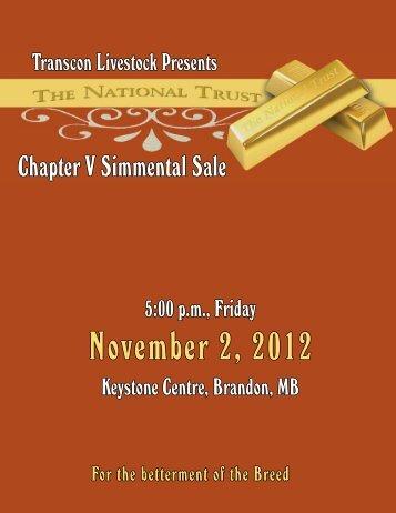 November 2, 2012 - Transcon Livestock Corporation