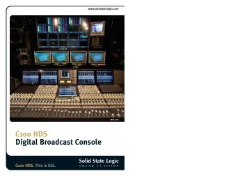 C100 HDS Digital Broadcast Console - Solid State Logic