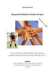 Integration behinderter Kinder im Sport - Hockey-Company-Jena eV