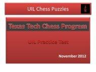 UIL Chess Puzzles - TTUChess