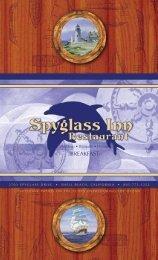 breakfast menu - Spyglass Inn