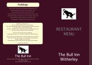 RESTAURANT MENU - The Bull Inn