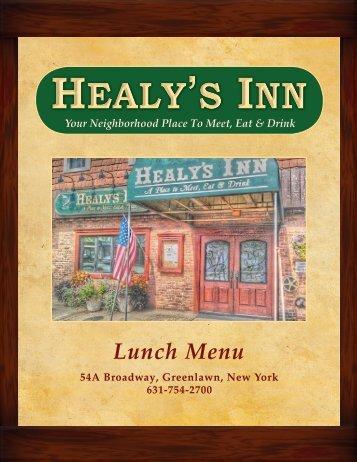 Lunch Menu - Healys Inn