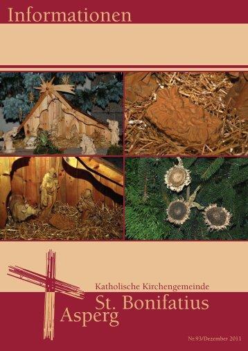 Informationen Nr. 93 (Dez. 2011) - Katholische Kirchengemeinde St ...