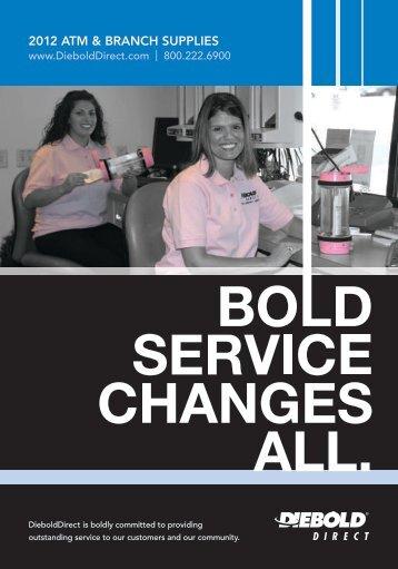 service changes all. - DieboldDirect